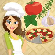 Pizza Margherita - Cooking with Emma - Girls game icon